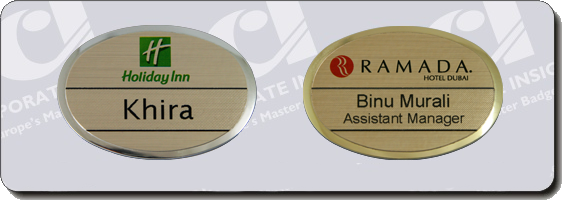 reusable oval pettite name badges