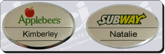 reusable oval ultra name badges